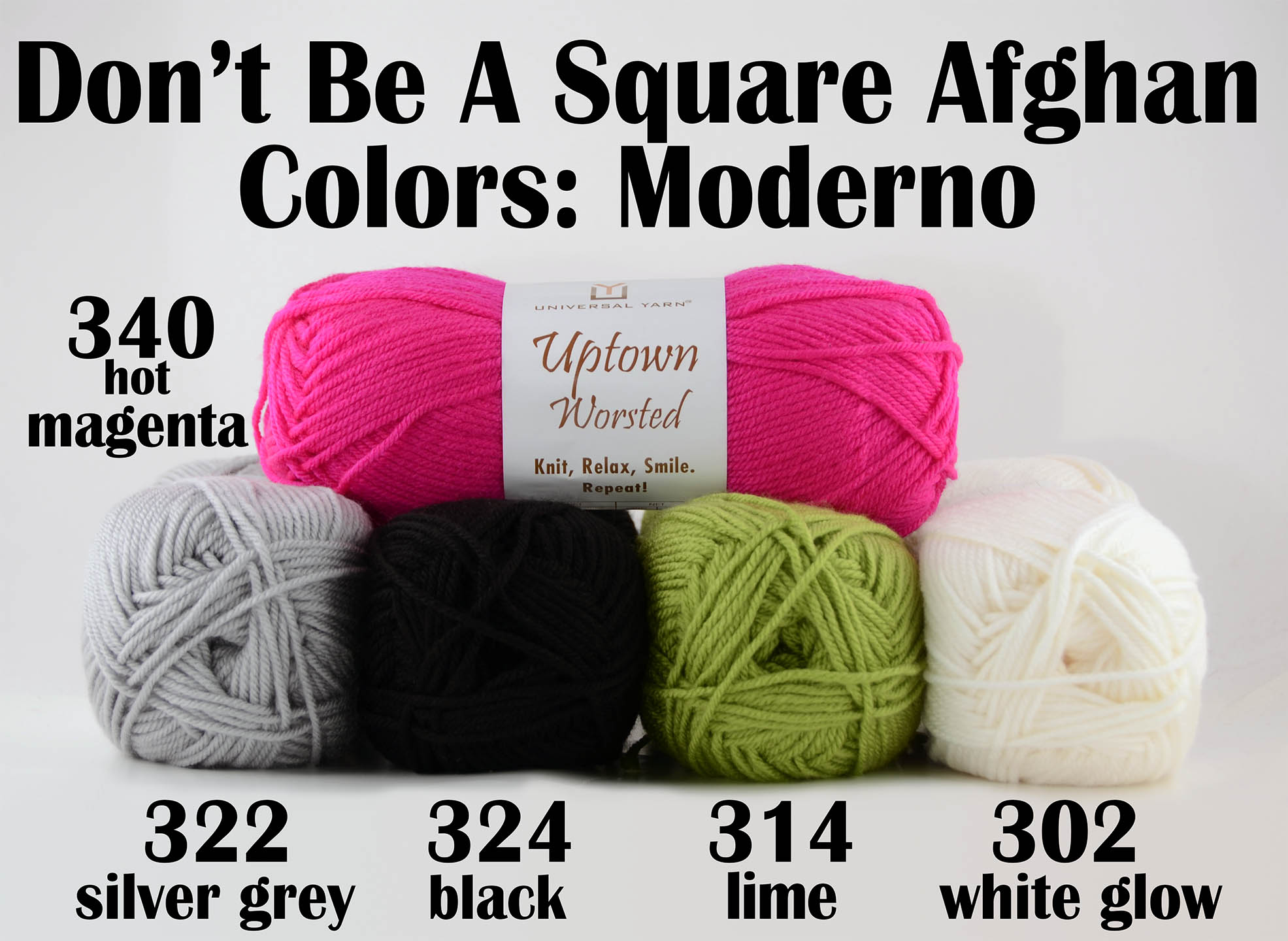 Afghan Knitalong - Moderno colors