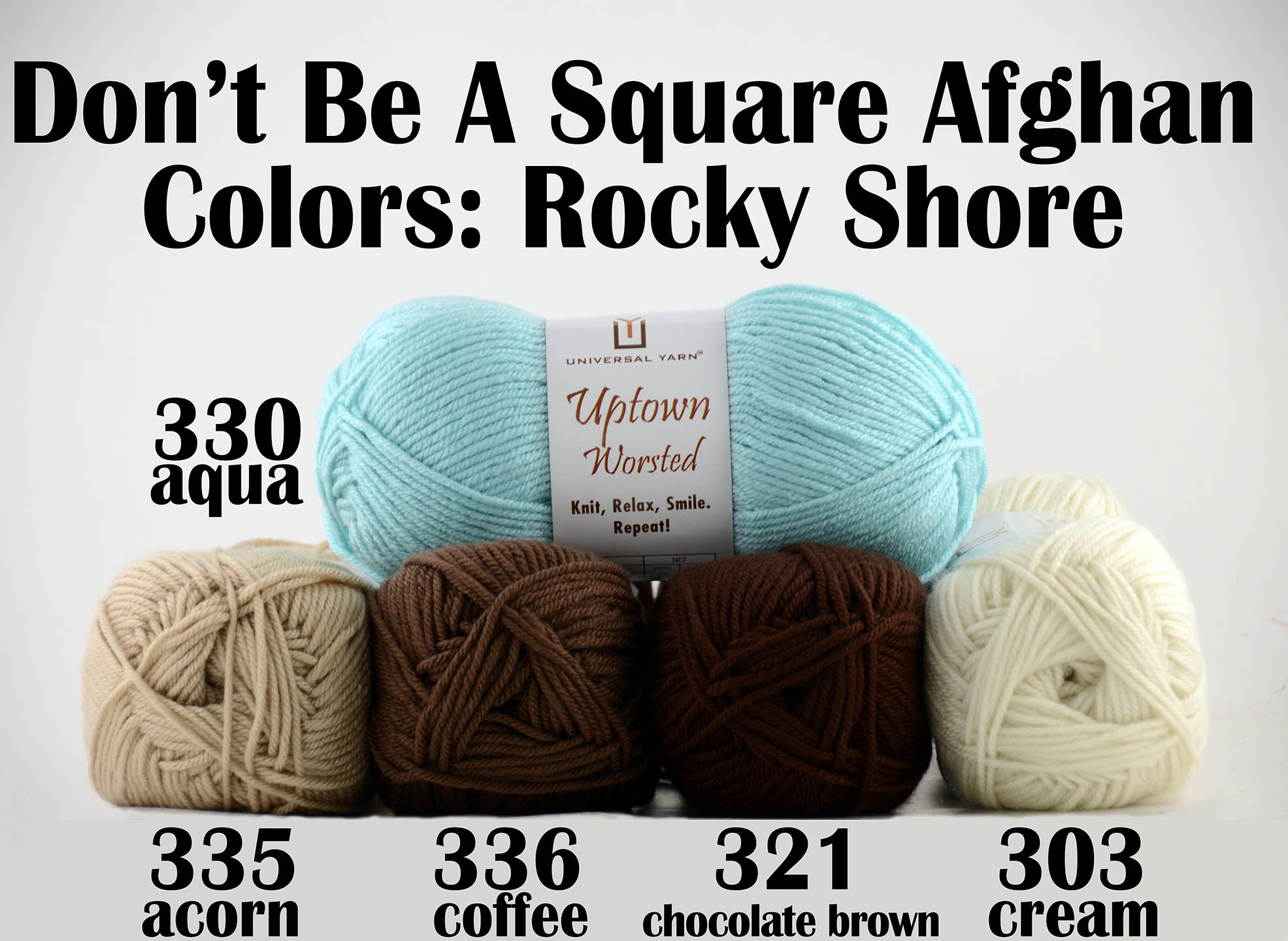 Afghan Knitalong - Rocky Shore colors
