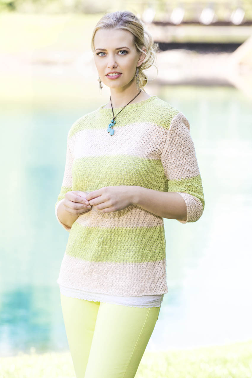 Dockside Striped Pullover in Flax