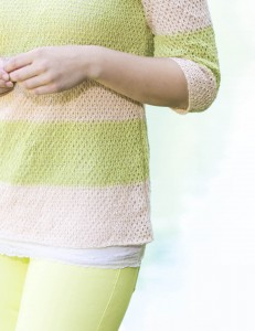 Dockside Striped Pullover in Flax - detail