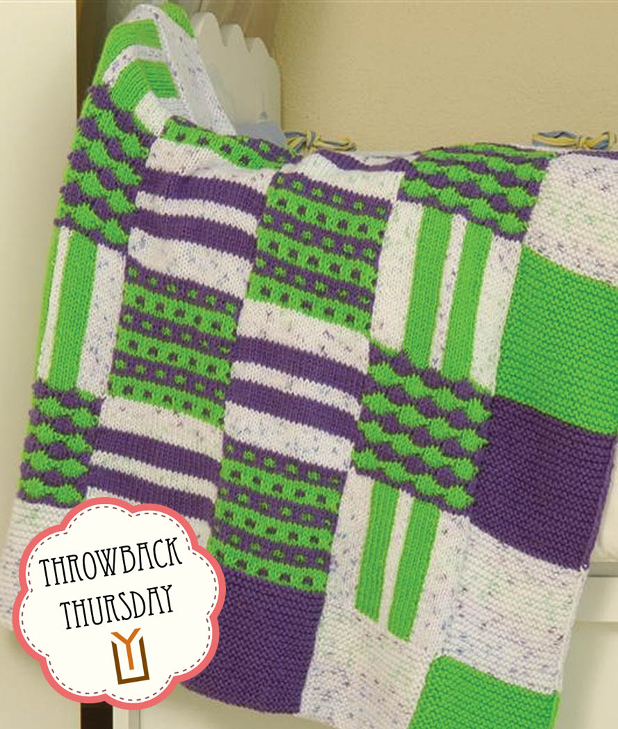 Throwback Thursday Baby Squares Blanket