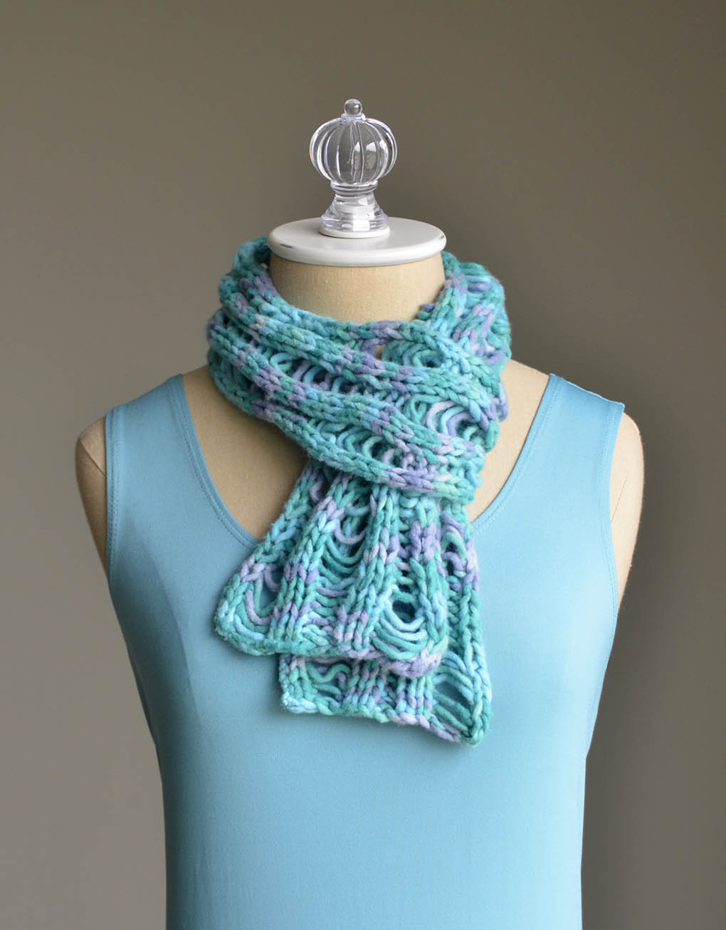 Ladder Scarf Cirrus Cotton wrapped blog