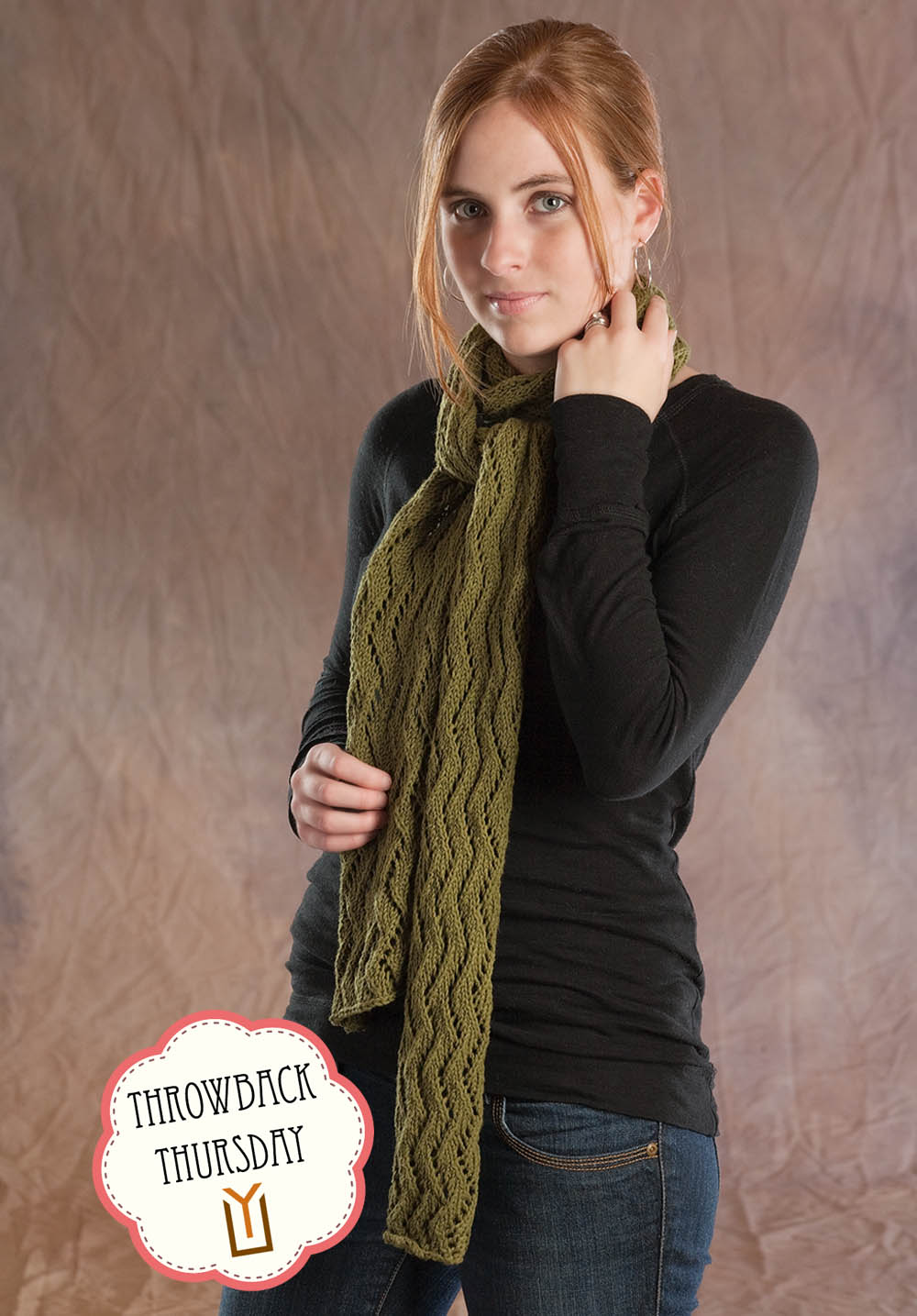 Throwback Thursday Zig Zag Lace Scarf