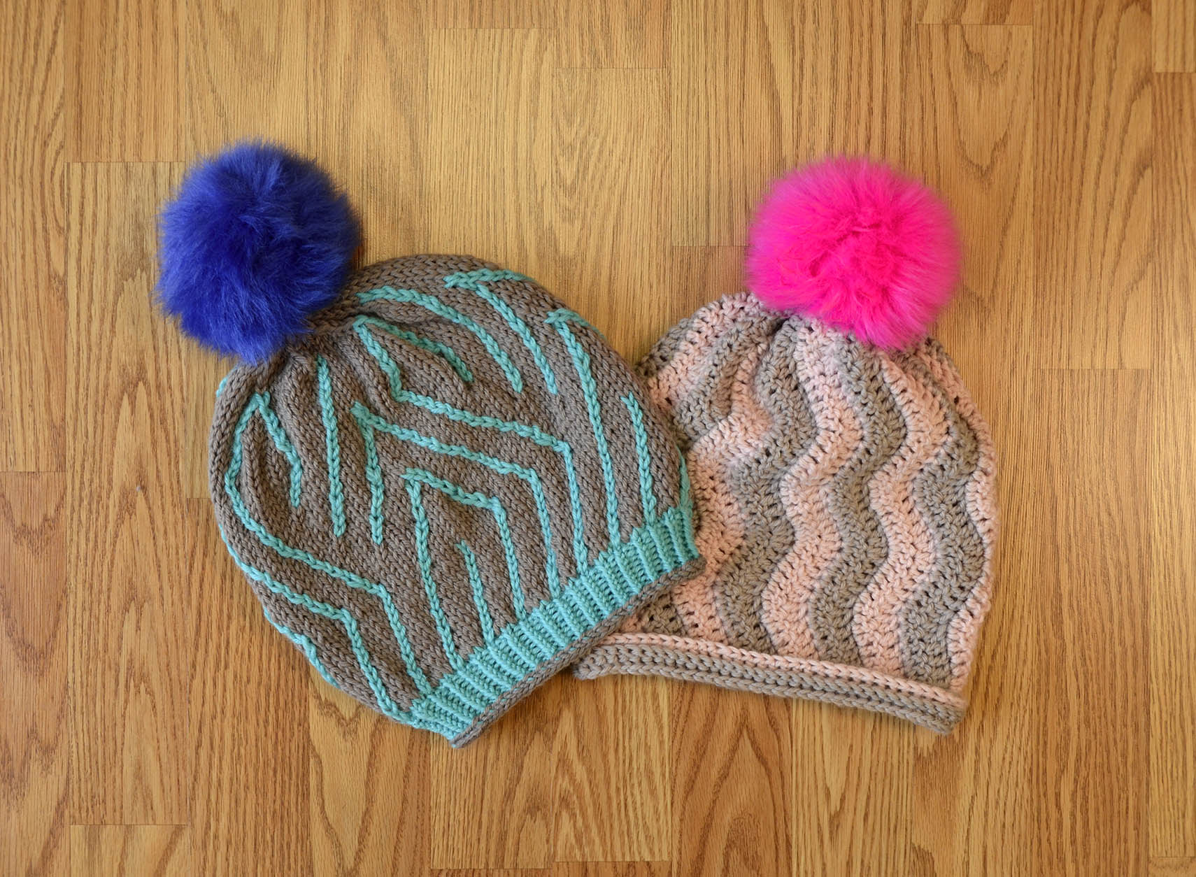 Parfait and Here and There hats_DeluxeWorstedSuperwash_blog