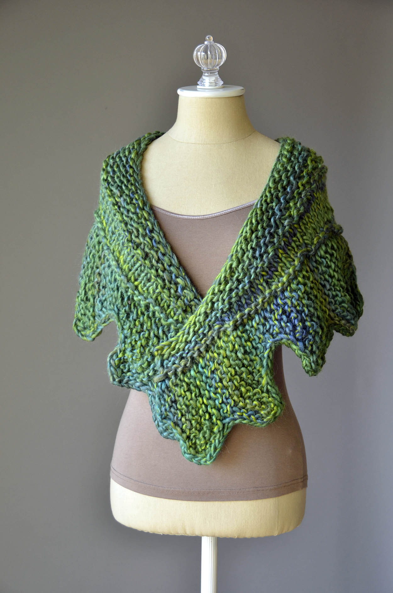 Cog Shawl color 801 Reef blog