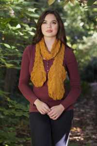 Deluxe Worsted e-book Sheaves of Wheat Scarf 2 blog
