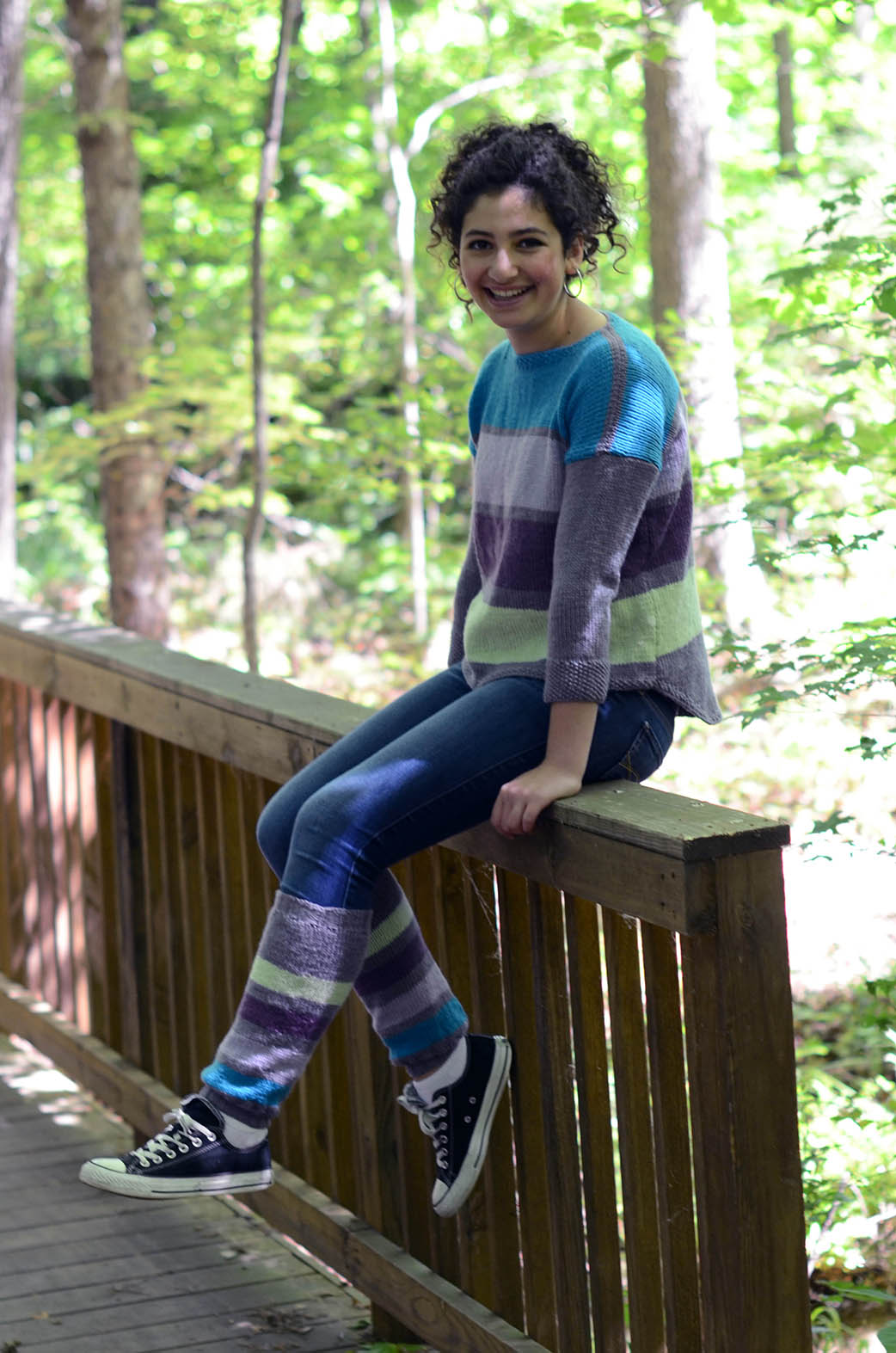 Four Stripe Pullover with legwarmers_blog