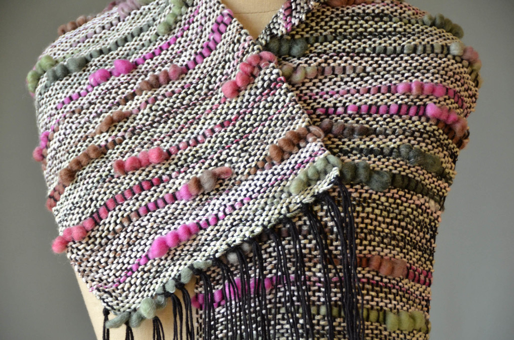 Bamboo Bloom woven scarf 2051 closeup blog