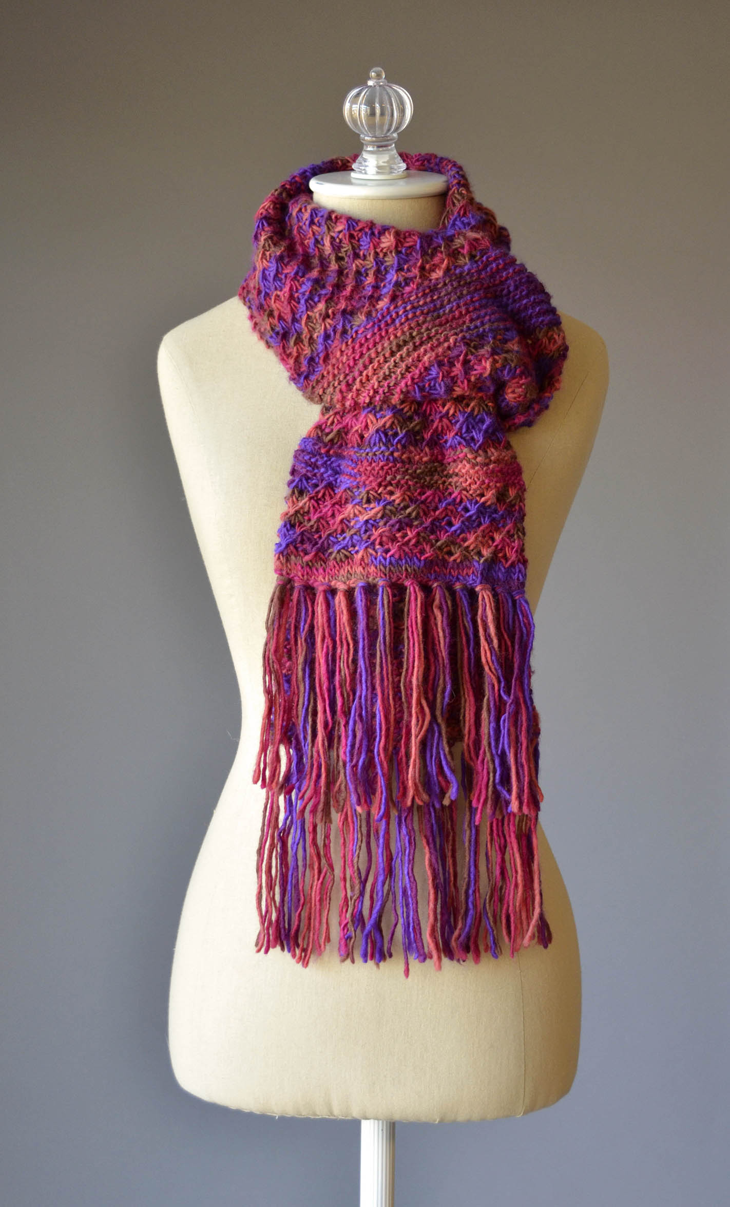 Jubilation Fringed Scarf wrapped blog