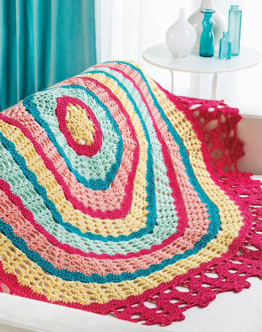 Crochet Spring 2015 Cotton Supreme Bruges-Edged Round Throw_B