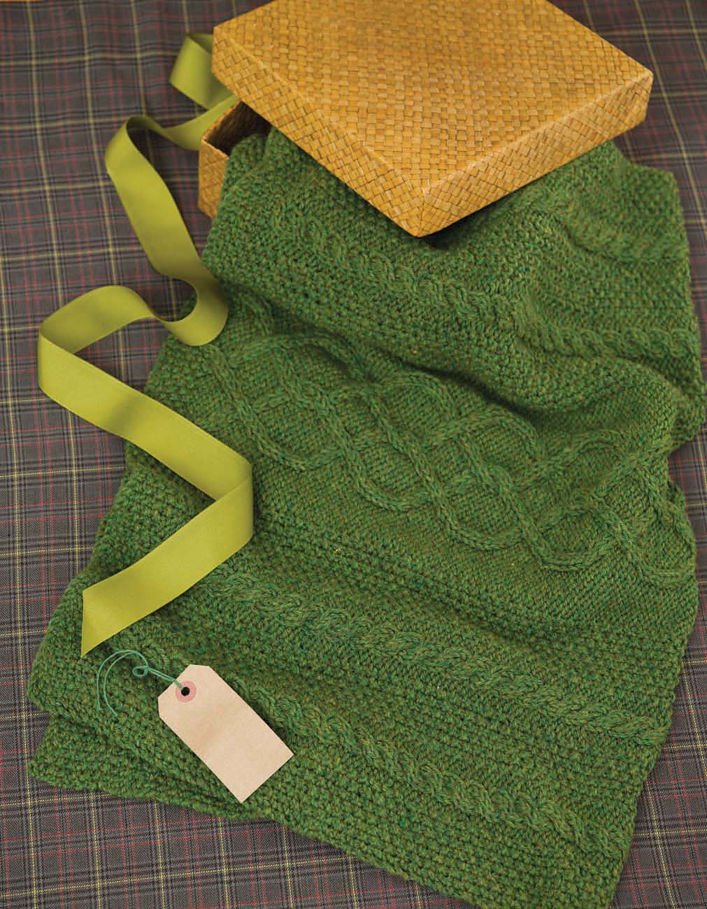 Emerald Isle Lap Blanket in Deluxe Worsted from 50 Knitted Gifts