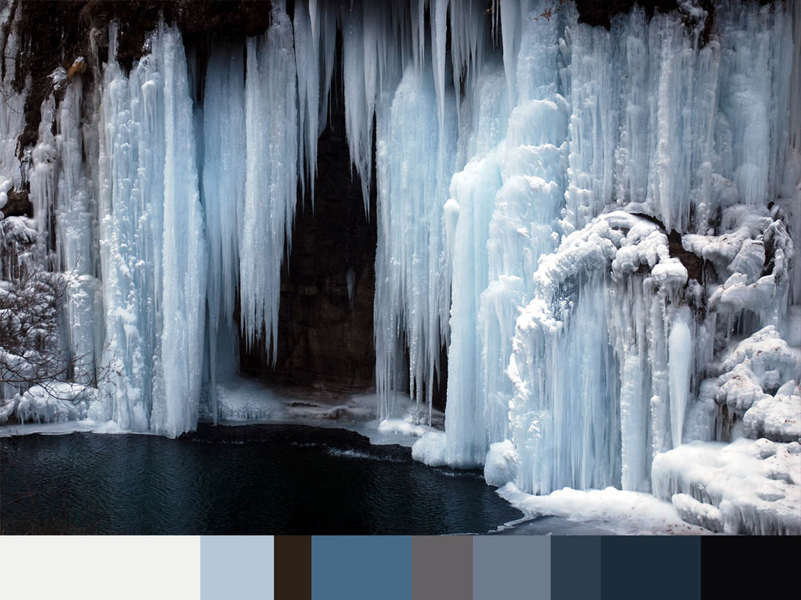 Frozen Waterfall colors