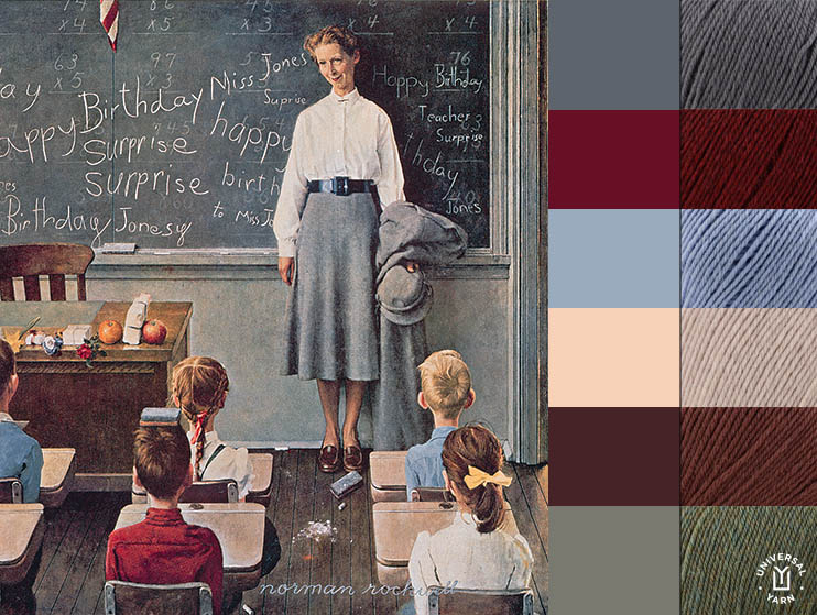 Rockwell Happy Birthday Miss Jones colors