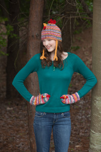 0054Chicken Hat and Mitts Tapestry