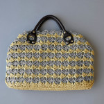 Yashi Two-Color Handbag gray blog