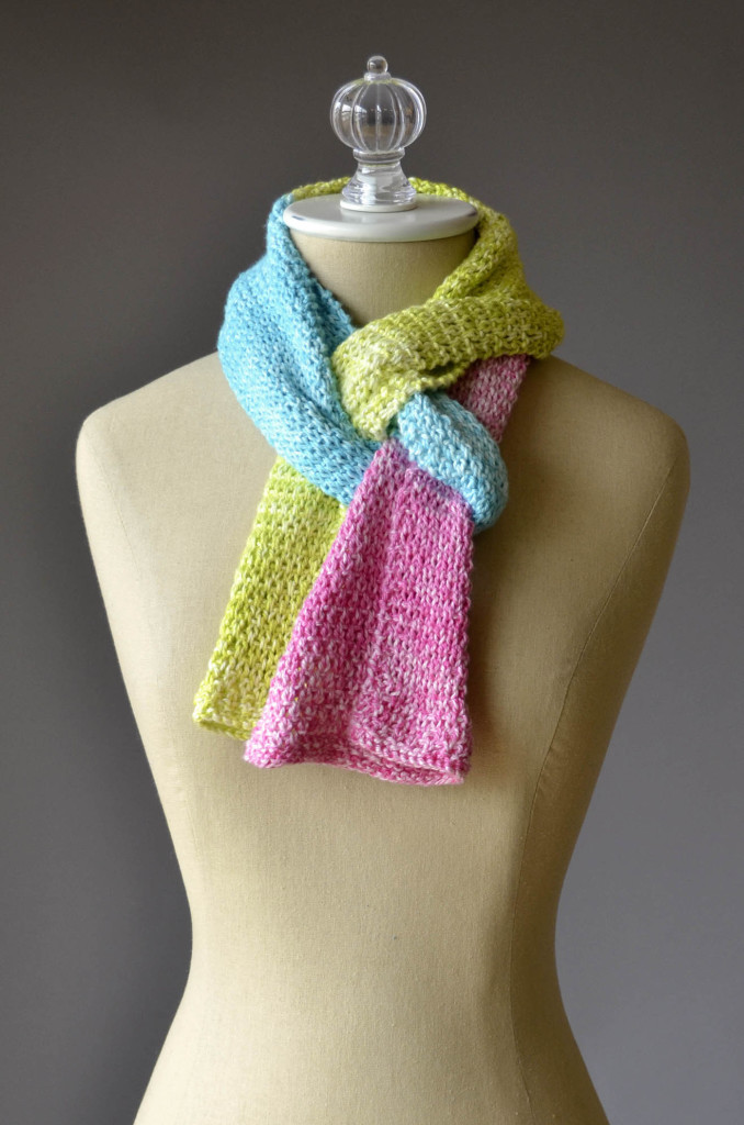 Knitting Patterns Scarves 2 Colors : Free Pattern Friday   Color Block Scarves Universal Yarn Creative Network
