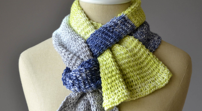 Free Pattern Friday – Color Block Scarves