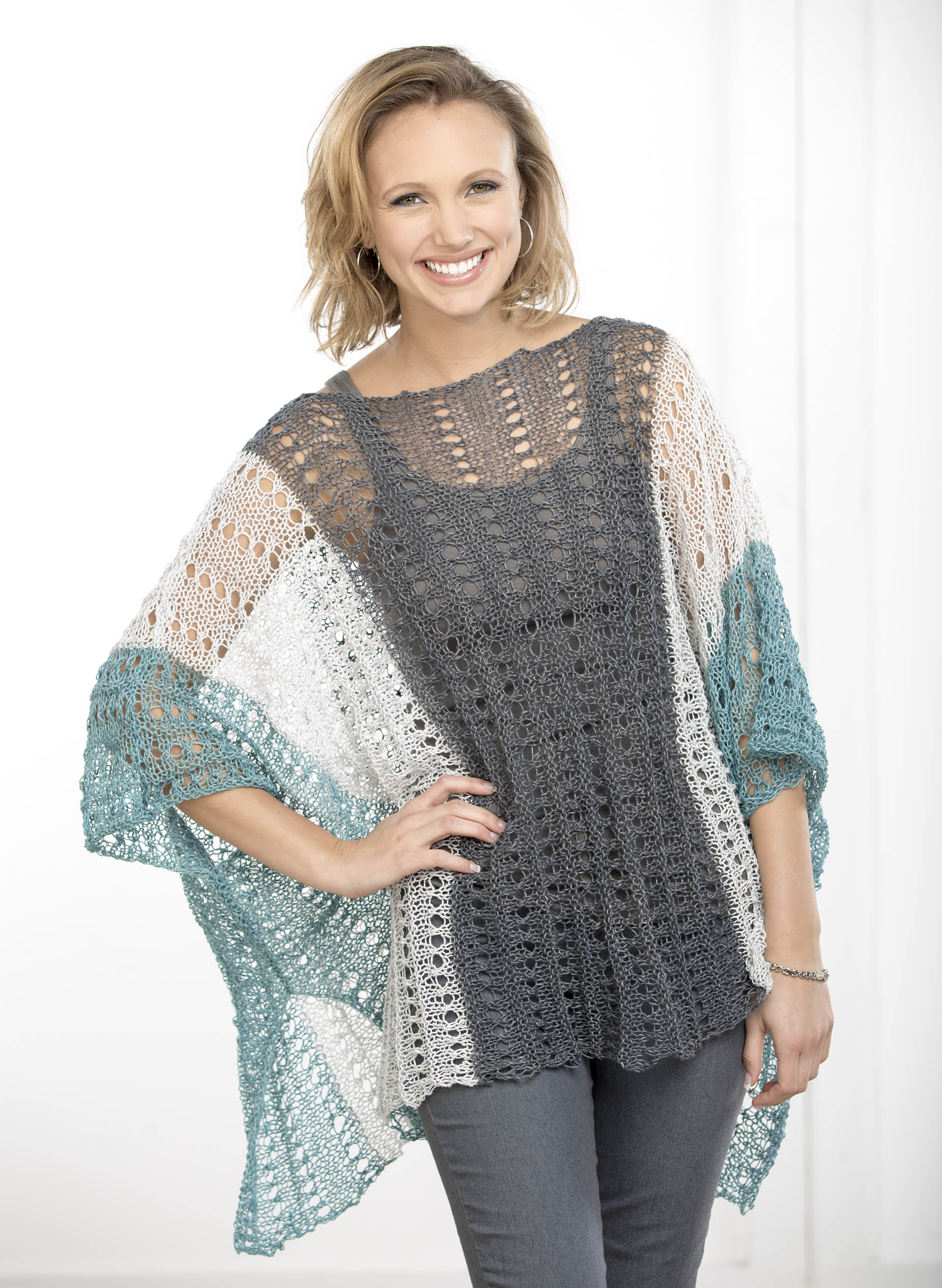 Knitting Pattern For Summer Poncho : Flax_SummerPoncho_blog