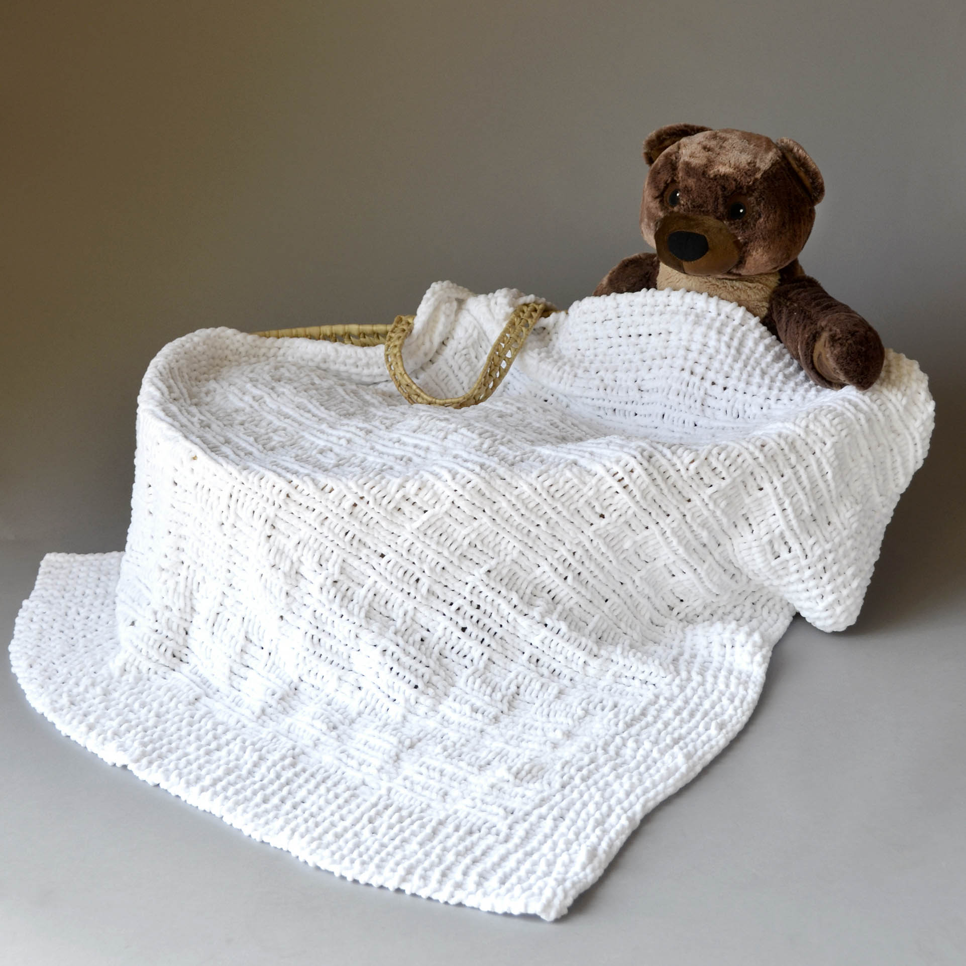 Bella Blanket with bear blog