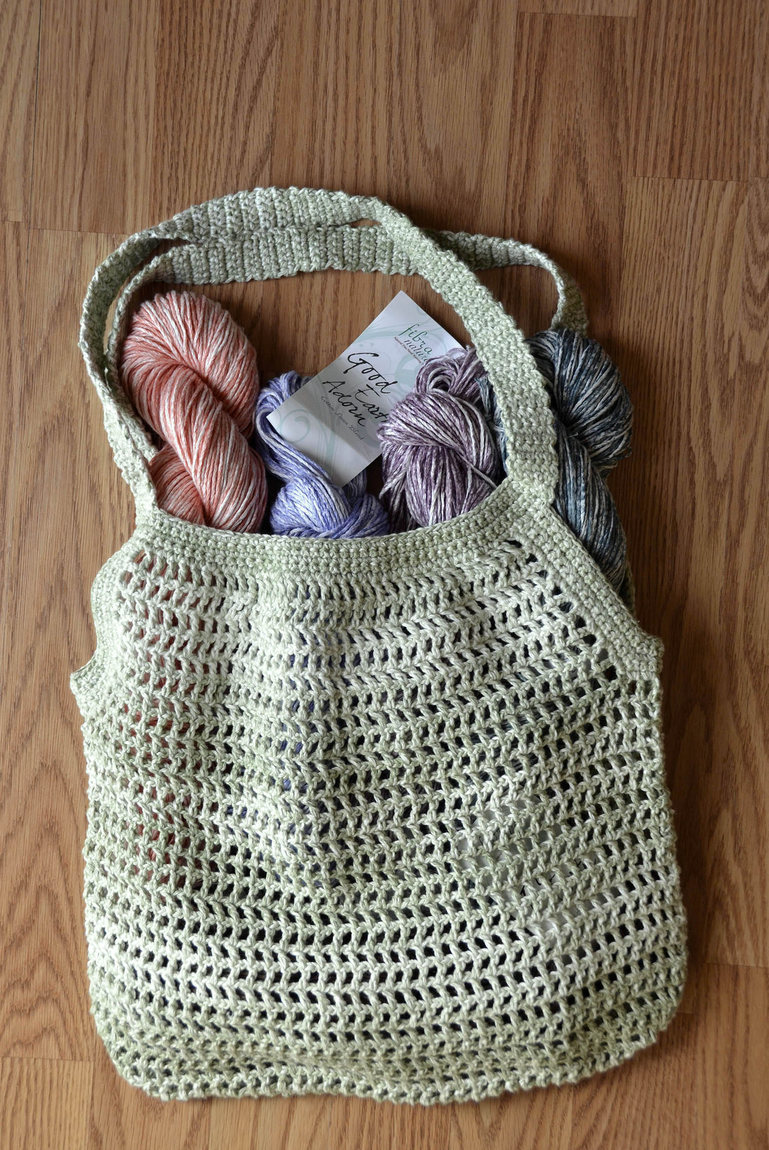 Knitting Pattern Mesh Bag : Free Pattern Friday   Knit and Crochet Market Bags Universal Yarn Creative ...