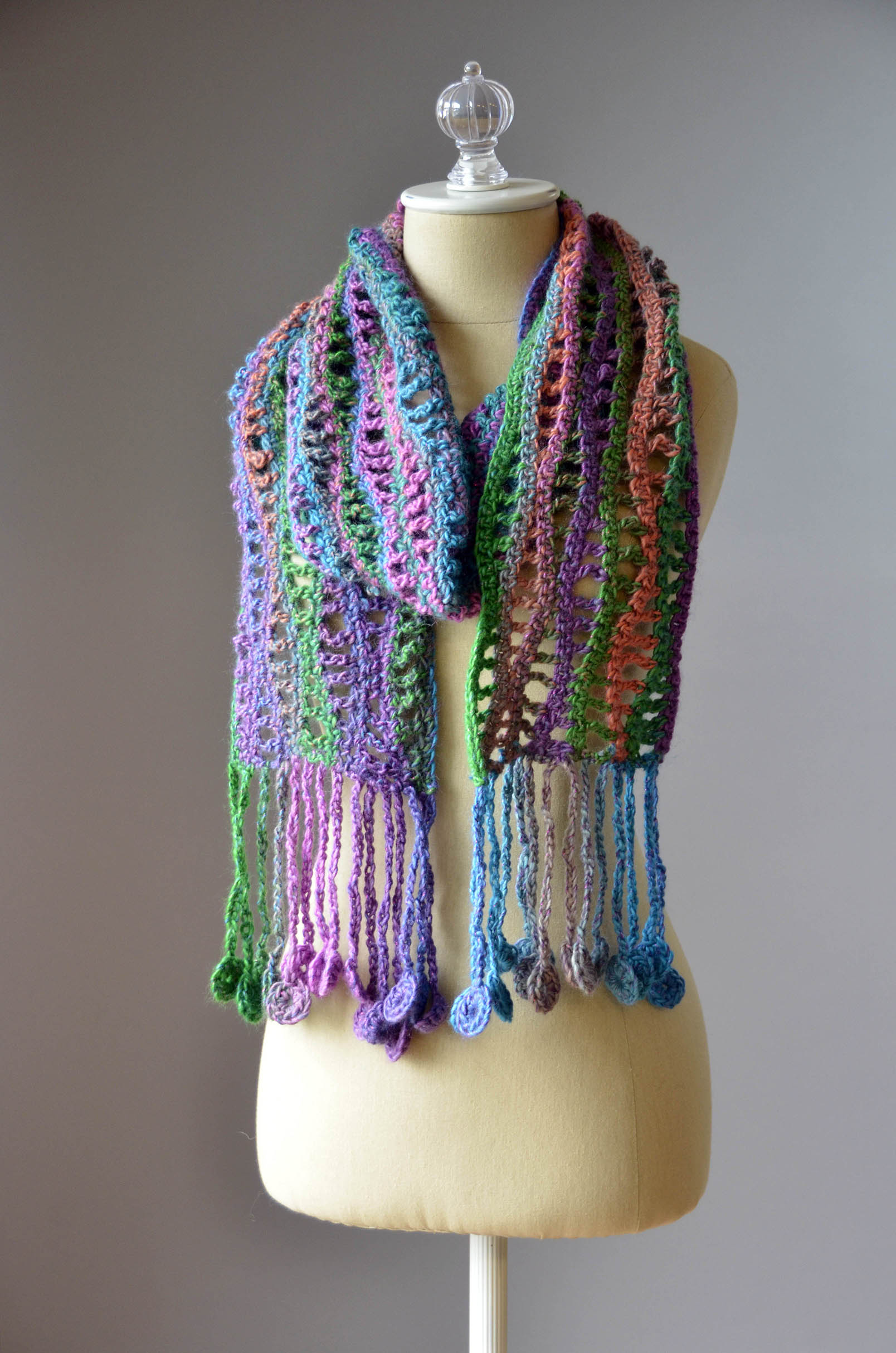 Free Pattern Friday - Crochet Coin Scarf Universal Yarn Creative ...
