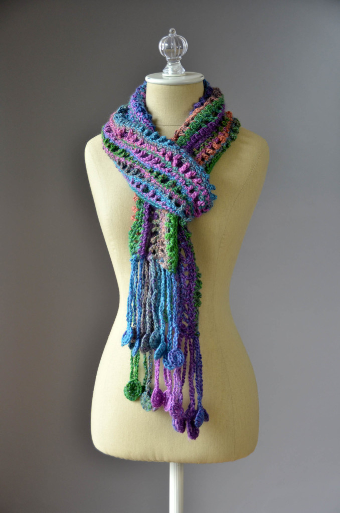CS Metallic Crochet Coin Scarf 2 blog
