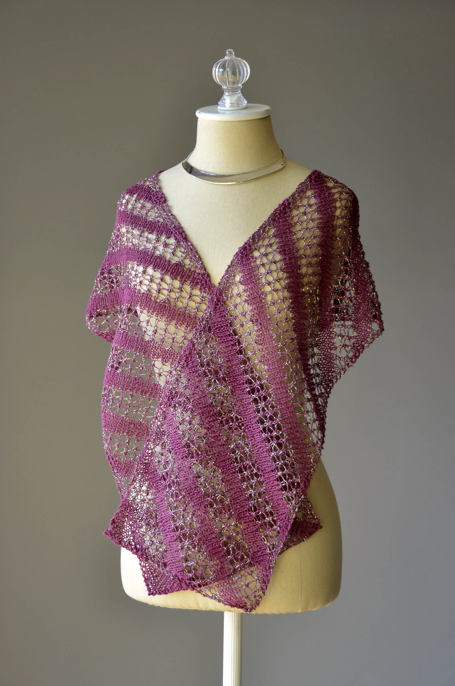 Knitting On The Bias Shawl Pattern : Free pattern friday bias stripe scarf universal yarn