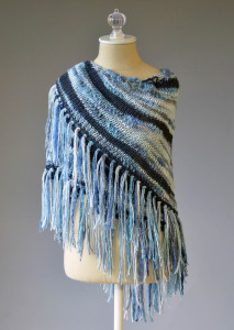 Lightning Strikes Shawl wrapped front blog