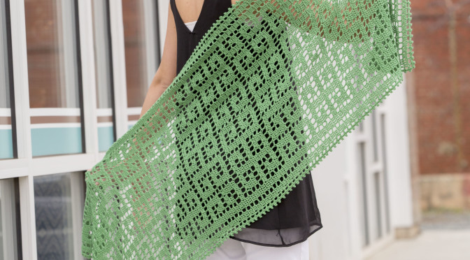 Delphi Stole – How to Do Filet Crochet