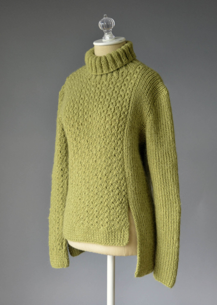 Amphora Eyelet and Rib Pullover three quarters blog