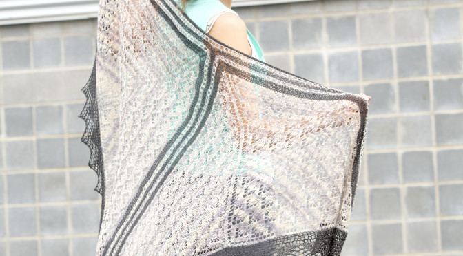 Bisected Shawl – Starting Out
