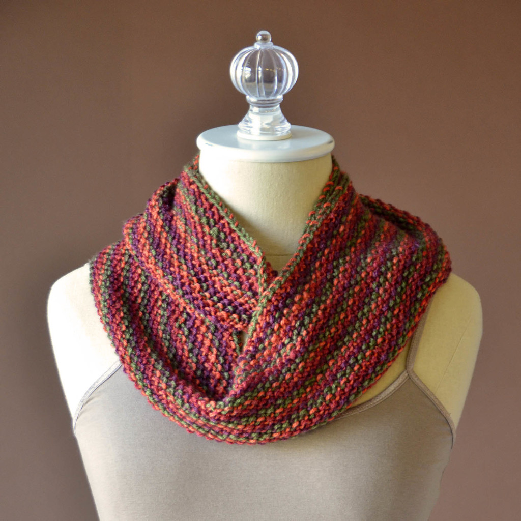 Uptown DK Colors Seed Stitch Cowl wrapped square no graphic