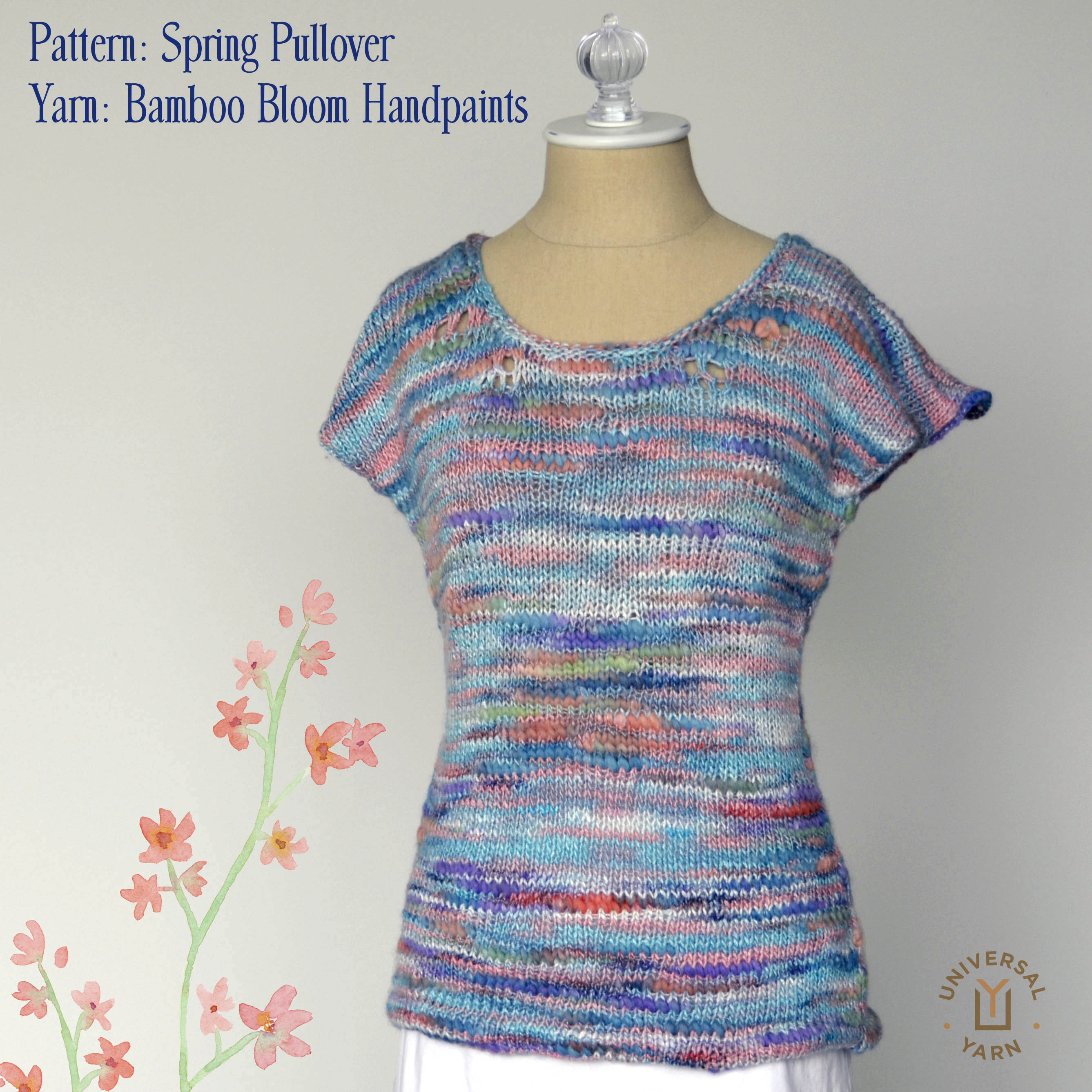 Bamboo Bloom Handpaints Spring Pullover square hi-res GRAPHICS