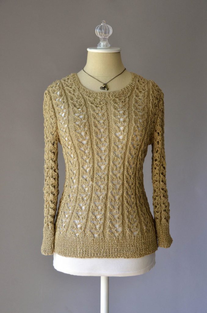 Flax Natural Lace Pullover 180dpi