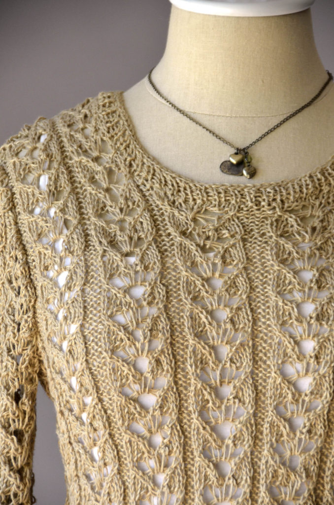 Flax Natural Lace Pullover detail 180dpi