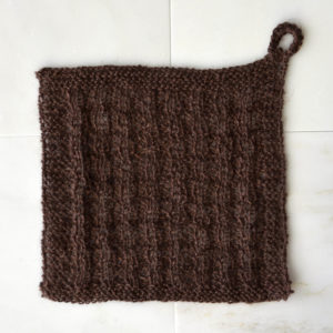 Java Washcloth 103 Walnut square