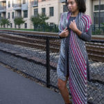 """Knit the 70"""" Camden Wrap in one long piece with bias shaping."""