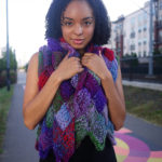 Work the Euclid Scarf in one piece from end to end on US Size 15 (10mm) needles.