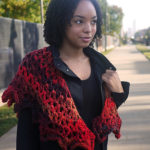Designer Amy Gunderson gave this shawl an light crescent shape so that it sits easily on the shoulders.