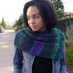 So easy!  The New Bern Cowl calls for just two balls of Big Time and a US Size 15 (10mm) needle.