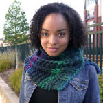 The vertical stitch in the New Burn Cowl is simple.  Drop the stitch and pull it back up the column with a crochet hook.