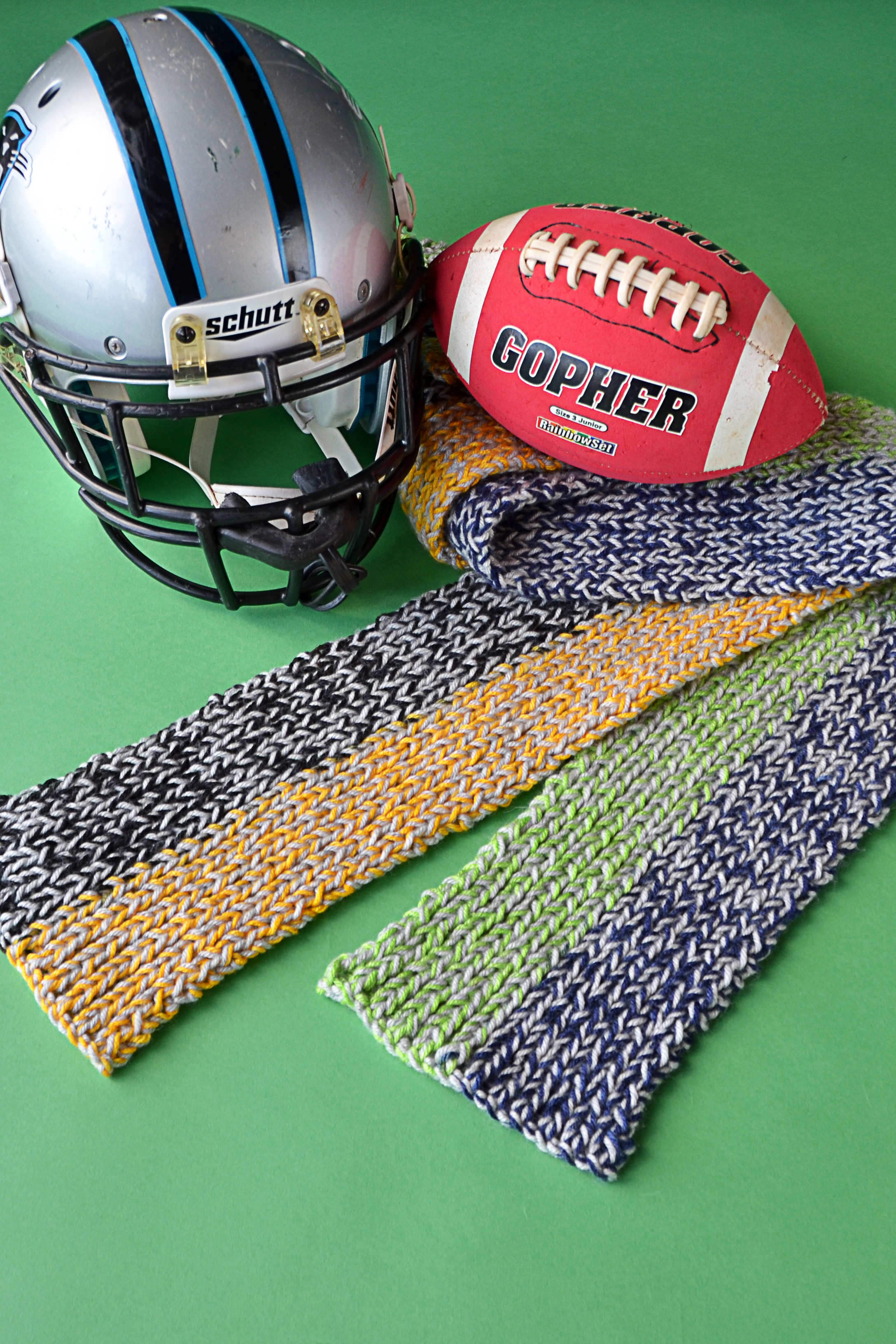 Knitting Pattern For A Football Scarf : Free Pattern Friday   Sideline Scarves Universal Yarn Creative Network