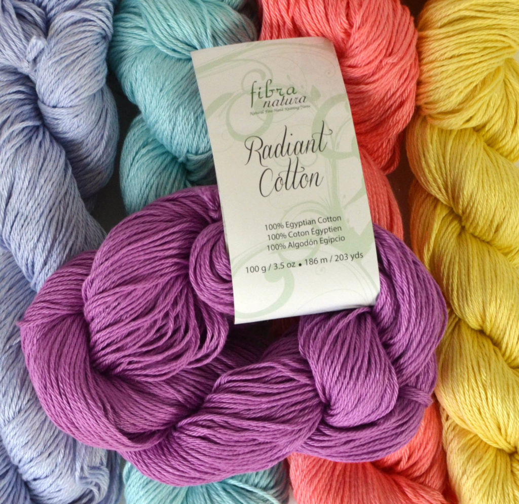 hanks of Radiant Cotton yarn
