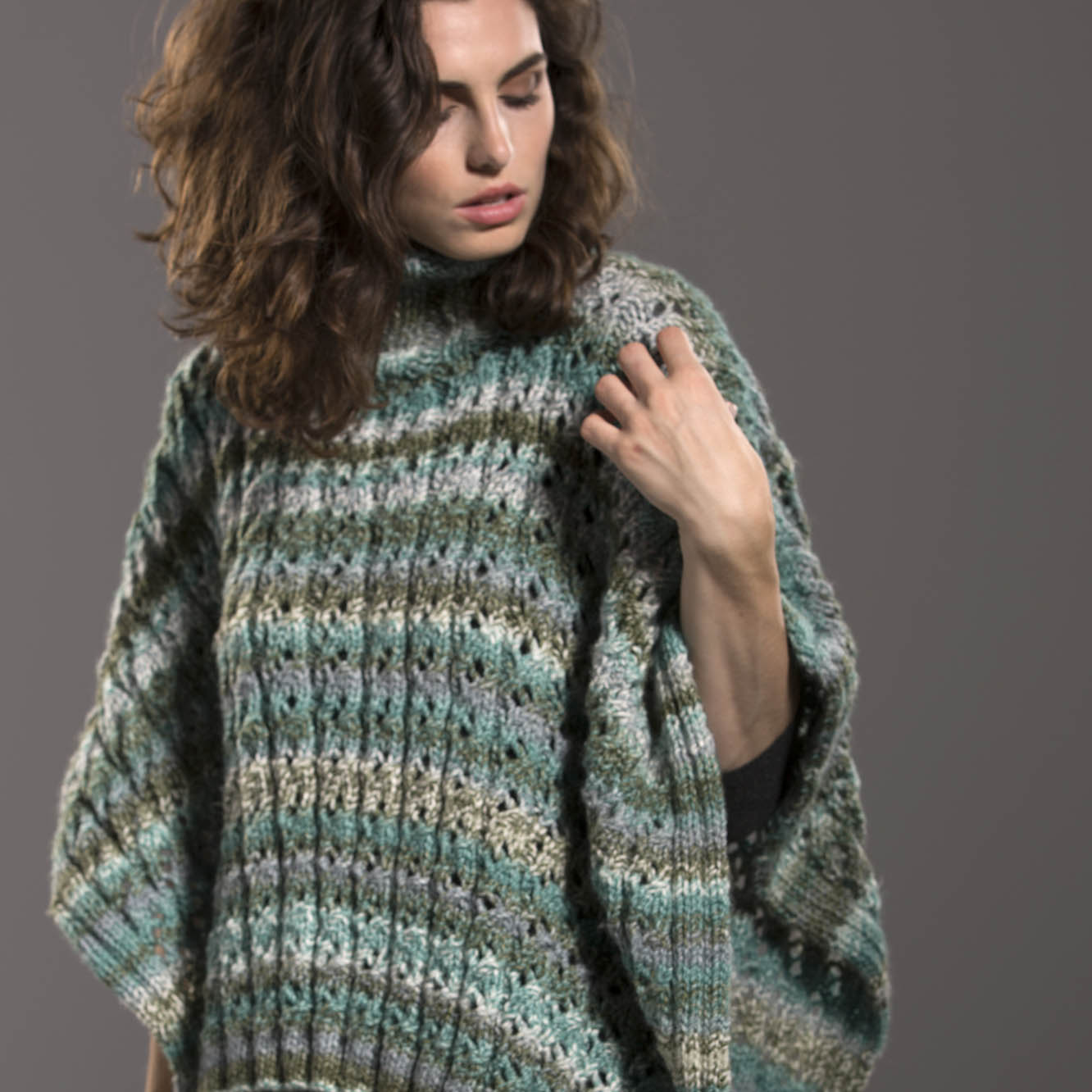 Knitting Poncho With Two Rectangles : Free pattern friday hidden treasure poncho universal